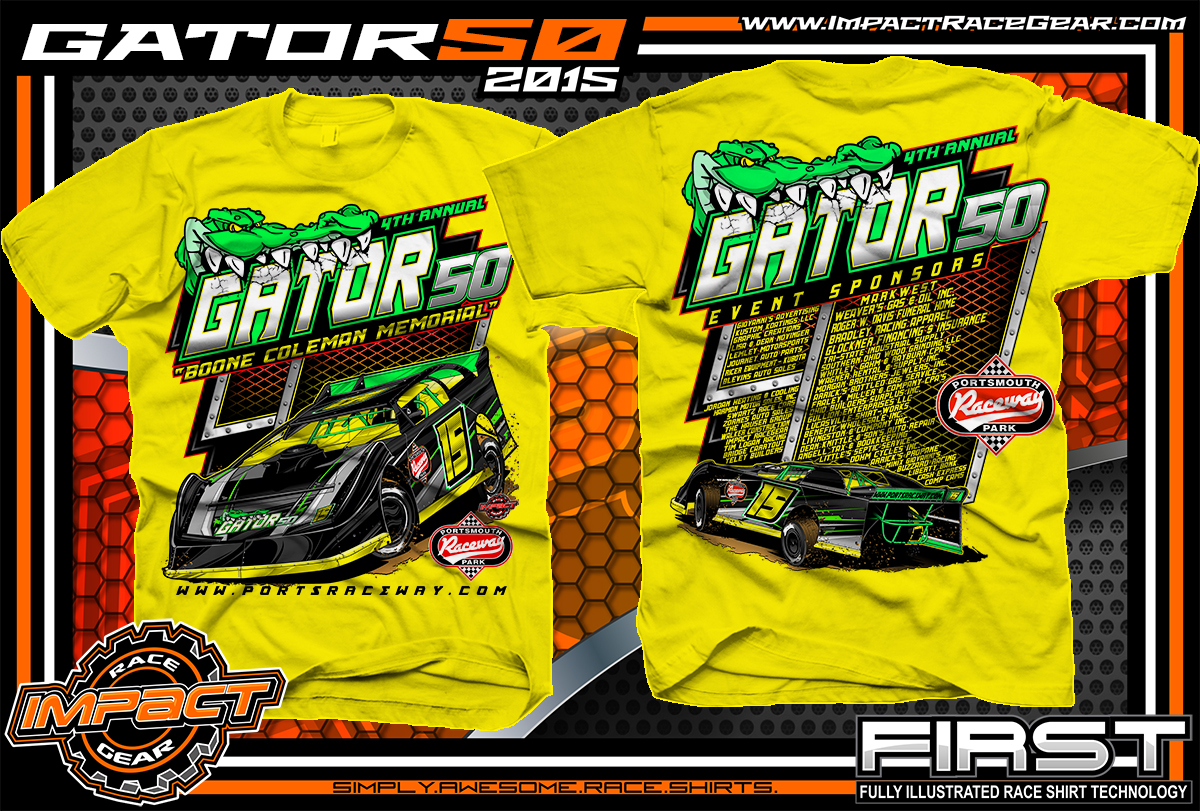 Event track racing shirts impact racegear for Racing t shirts custom