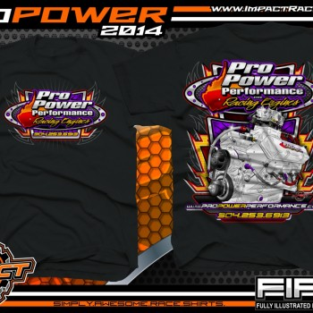Pro Power Engine Builder T-Shirt Black