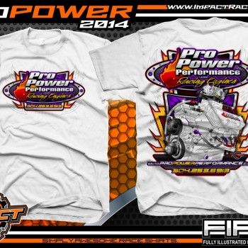 Pro Power Engine Builder T-Shirt White