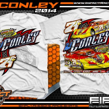 RJ Conley Dirt Late Model T-Shirt White