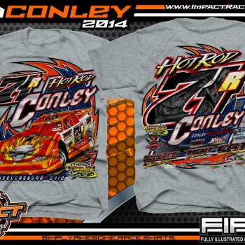 Rod Conley Dirt Late Model T-Shirt Grey