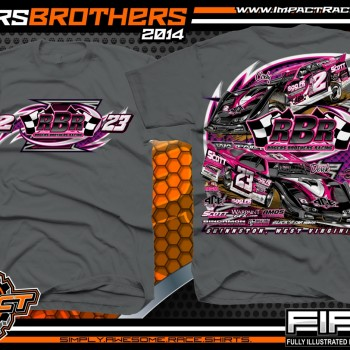 Rogers Brothers Racing Dirt Late Model T-Shirt Charcoal