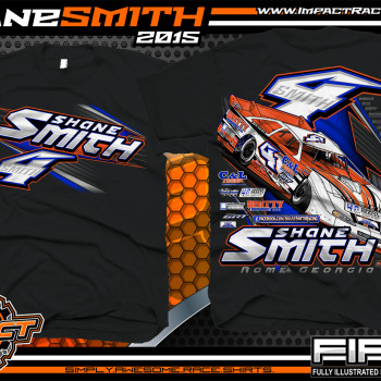 Shane Smith Dirt Late Model Shirts 2015 Black