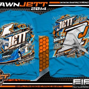 Shawn Jett Dirt Late Model T-Shirt Sapphire