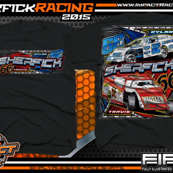 Sherfick Racing Dirt Modified Shirt 2015 blk