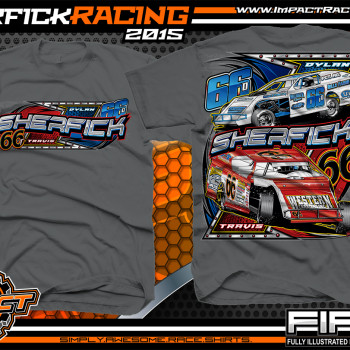 Sherfick Racing Dirt Modified Shirt 2015 charcoal