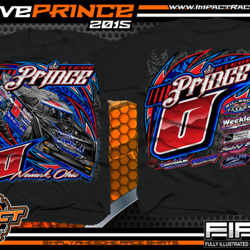 Steve Prince Dirt Late Model Shirt 2015 blk