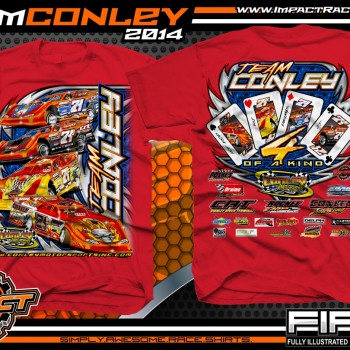 Team Conley Dirt Late Model T-Shirt Red