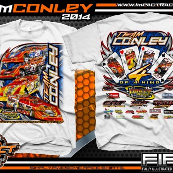 Team Conley Dirt Late Model T-Shirt White