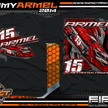 Tommy Armel Dirt Late Model T-Shirt Black