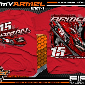 Tommy Armel Dirt Late Model T-Shirt Red