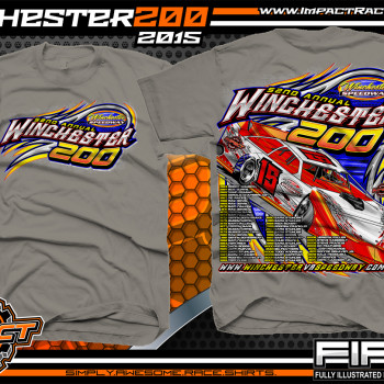 Winchester 200 Dirt Late Model Event Shirt 2015 Charcoal