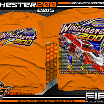 Winchester 200 Dirt Late Model Event Shirt 2015 Orange