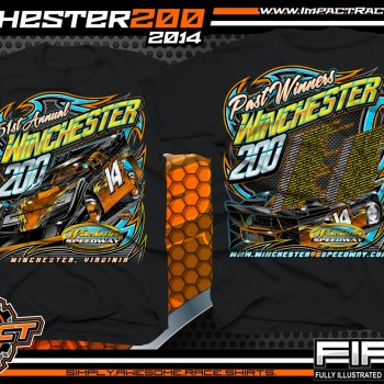 Winchester 200 Dirt Late Model Event T-Shirt Black