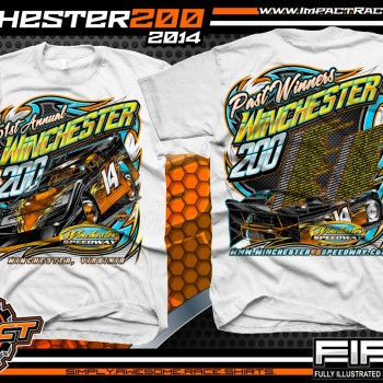 Winchester 200 Dirt Late Model Event T-Shirt White