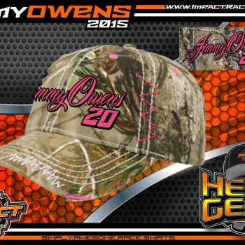 Jimmy Owens Ladies Camo Racing Hat 2015