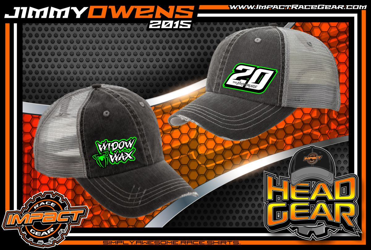 Racing HeadGear. Jimmy Owens Signature Vintage Distressed Racing Hat 2015 7cd3ee221300