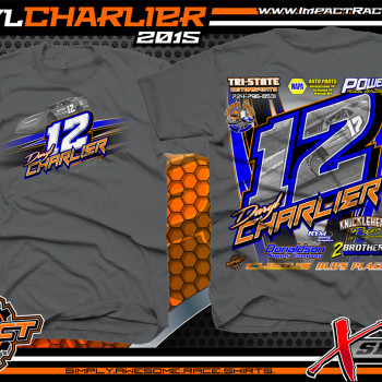 Daryl Charlier Dirt Late Model Shirt 2015 Charcoal