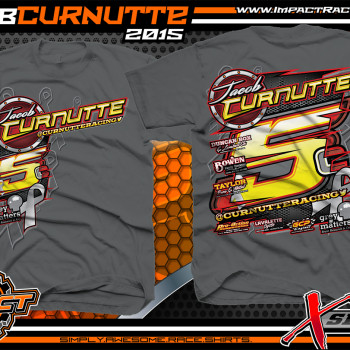 Jacob Curnutte X-Series Dirt Late Model Shirt 2015 Charcoal
