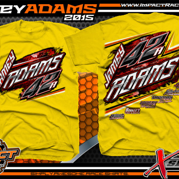 Jamey Adams Dirt Late Model Shirt 2015 Yellow
