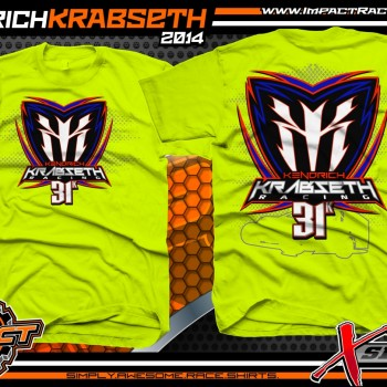 Kendrich Krabseth Dirt Modified T-Shirt Safety Yellow