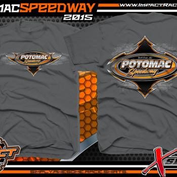 Potomac Speedway Dirt Track Shirts Carcoal