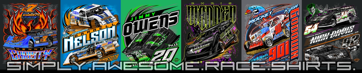 Impact RaceGear Dirt Track Racing Shirts