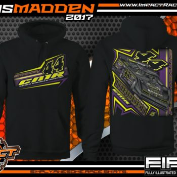 Chris Madden World Of Outlaws Dirt Late Model Dirt Track Racing Shirt Hooded Sweatshirt