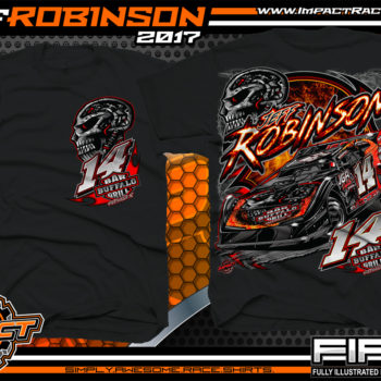 Jeff Robinson South Carolina Dirt Late Model Dirt Track Racing T-shirts