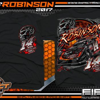 Jeff Robinson South Carolina Dirt Late Model Dirt Track Racing T-shirts
