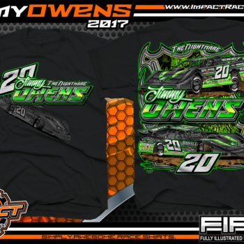 Jimmy Owens Lucas Oil Dirt Late Model Dirt Track Racing Shirt