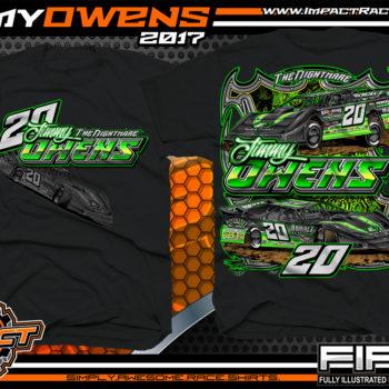 Jimmy Owens Lucas Oil Dirt Late Model Dirt Track Racing Shirt