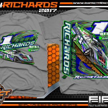 Josh Richards Lucas Oil Dirt Late Model Dirt Track Racing Shirt