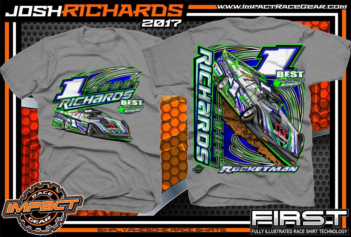 Racing shirt designs impact racegear 877 743 8337 for Custom race shirts no minimum