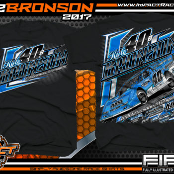 Kyle Bronson Florida Dirt Late Model Dirt Track Racing Shirt