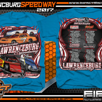 Lawrencburg Speedway Dirt Track Racing T-Shirt Sapphire