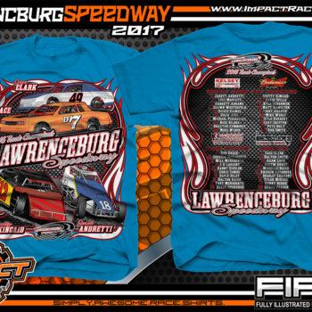 Lawrencburg Speedway Dirt Track Racing T-Shirt Sapphire