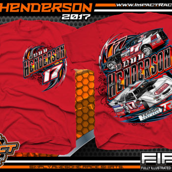 Matt Henderson Lucas Oil Dirt Late Model Dirt Track Racing Shirt