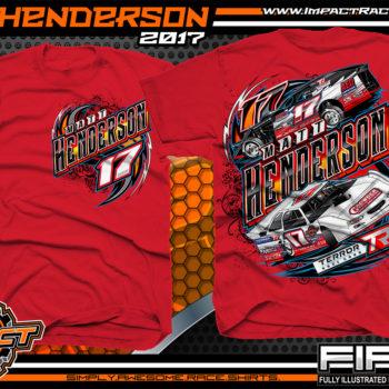 Matt Henderson Lucas Oil Dirt Late Model Dirt Track Racing Shirt