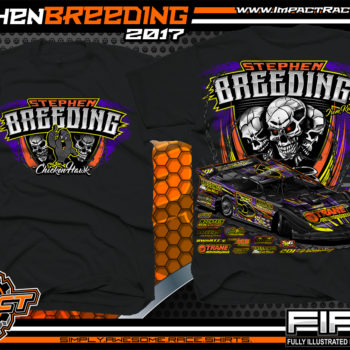 Stephen Breeding Kentucky Dirt Late Model Dirt Track Racing T-Shirt Black