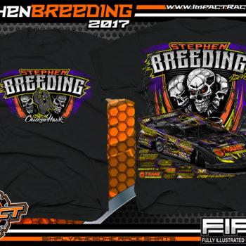 Stephen Breeding Kentucky Dirt Late Model Dirt Track Racing T-Shirt Black