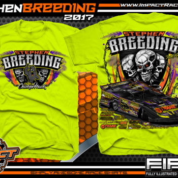 Stephen Breeding Kentucky Dirt Late Model Dirt Track Racing T-Shirt Safety Yellow