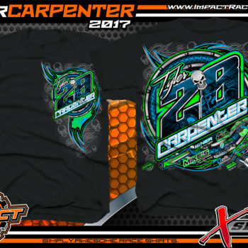 Tyler Carpenter AMRA Dirt Late Model Racing T-Shirts Black