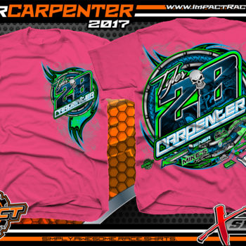 Tyler Carpenter AMRA Dirt Late Model Racing T-Shirts Pink