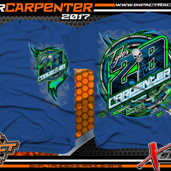 Tyler Carpenter AMRA Dirt Late Model Racing T-Shirts Royal