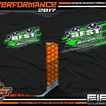Best Performance Motorsports Lucas Oil Dirt Late Model Racing Team Shirt Black
