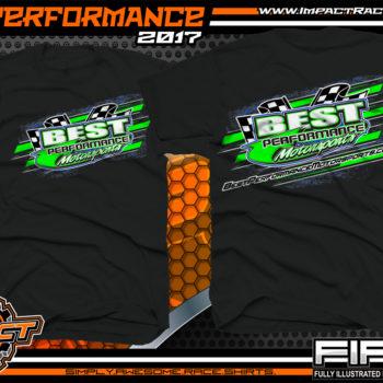 Best Performance Motorsports Lucas Oil Dirt Late Model Racing Team Shirt Black