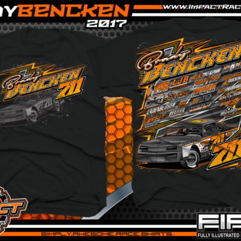 Brady Bencken UMP Dirt Track Street Stock Racing T-shirts