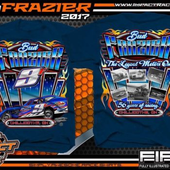 Bud Frazier Dirt Modified Racing T-Shirts Navy