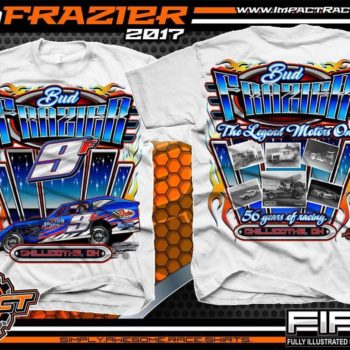 Bud Frazier Dirt Modified Racing T-Shirts White